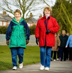 Two ladies Walking for health
