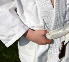 Karate suit with belt